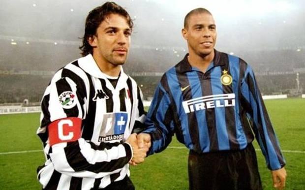 Del Piero e Ronaldo ai tempi di Juve e Inter