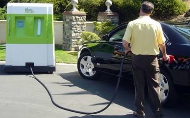 Un distributore di biogas di canapa, negli Stati Uniti