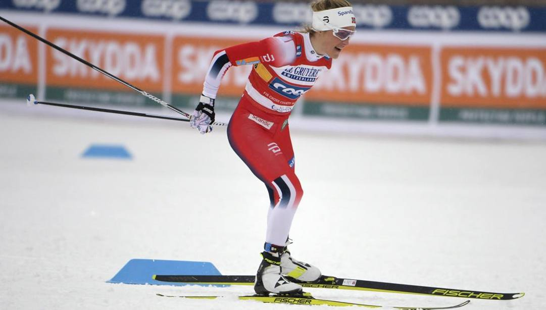 La regina del fondo mondiale Therese Johaug, norvegese. Ap
