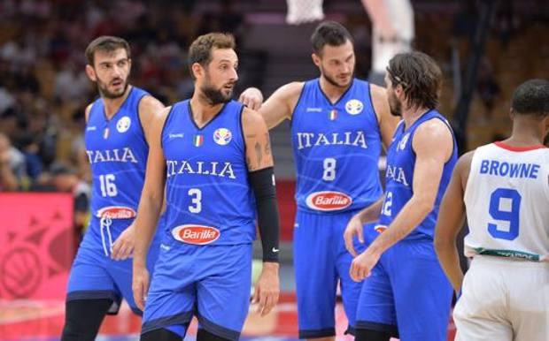 Amedeo Tessitori, Marco Belinelli, Danilo Gallinari e Ariel Filloy. Ciamilo