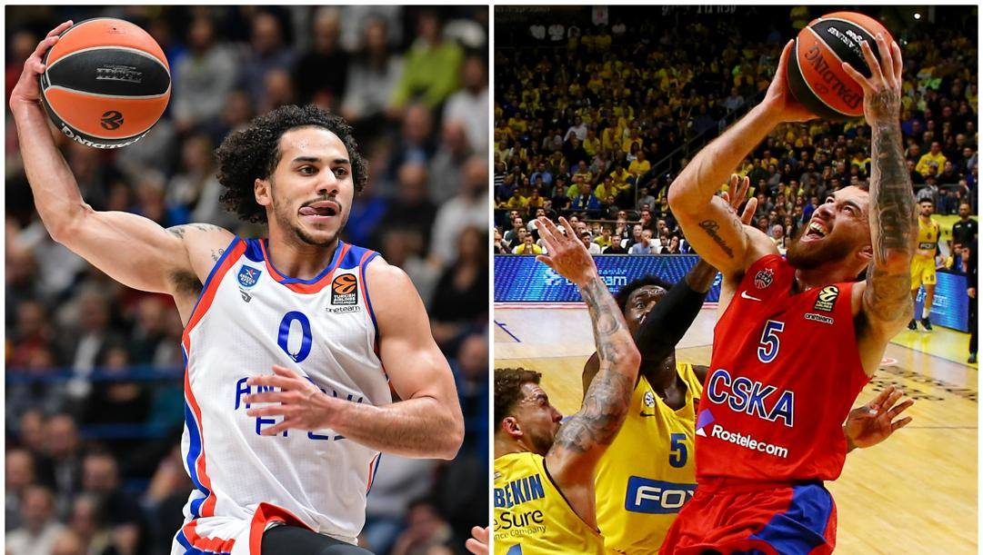 Da sinistra: Shane Larkin, 27 anni, play dell'Efes e bomber di Eurolega con 22.2 punti di media. Mike James, 29 anni, play del Cska Mosca: per lui 21.7 punti di media