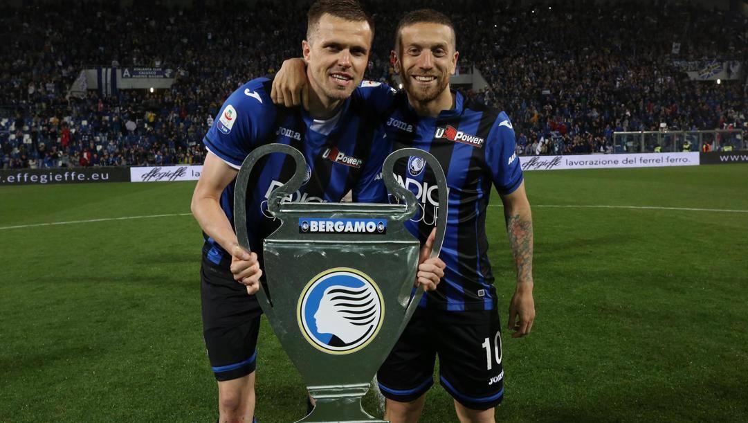 Josip Ilicic e il Papu Gomez, simboli della multinazionale Atalanta. Ansa
