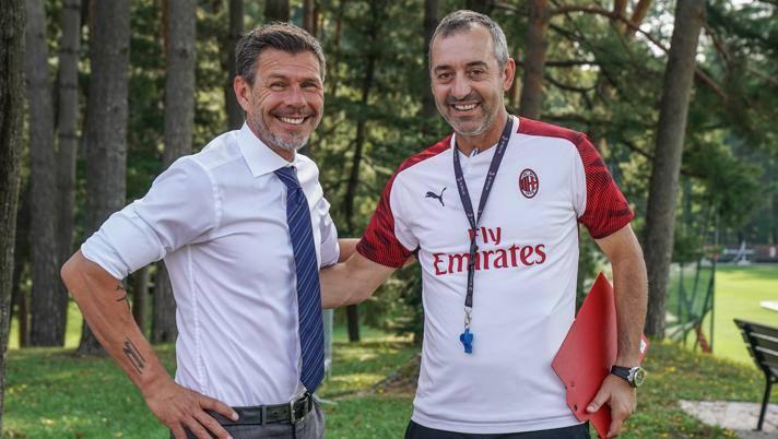 Da sinistra Zvonimir Boban e Marco Giampaolo. Lapresse