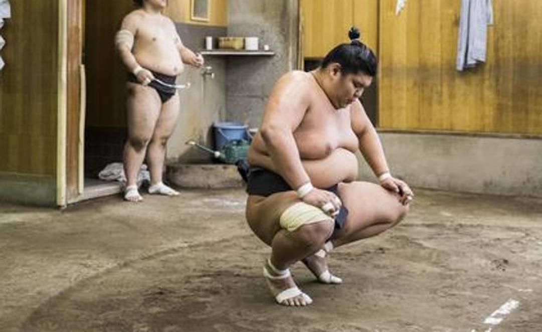 Il lottatore di sumo Shobushi, 28 anni. Epa