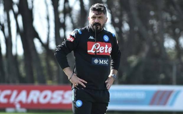 Rino Gattuso, 42 anni, al lavoro a Castel Volturno. Getty