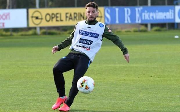Dries Mertens, 33 anni, in allenamento. Getty