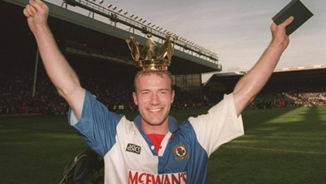Alan Shearer, centravanti del Blackburn campione d'Inghilterra 1995. Getty