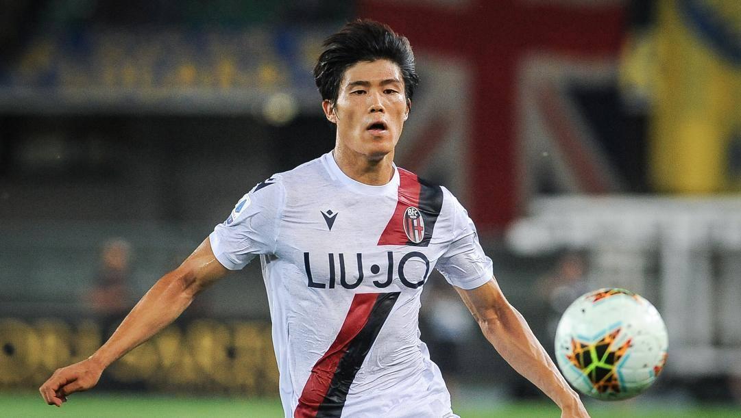Takehiro Tomiyasu, alla prima stagione a Bologna. Lapresse
