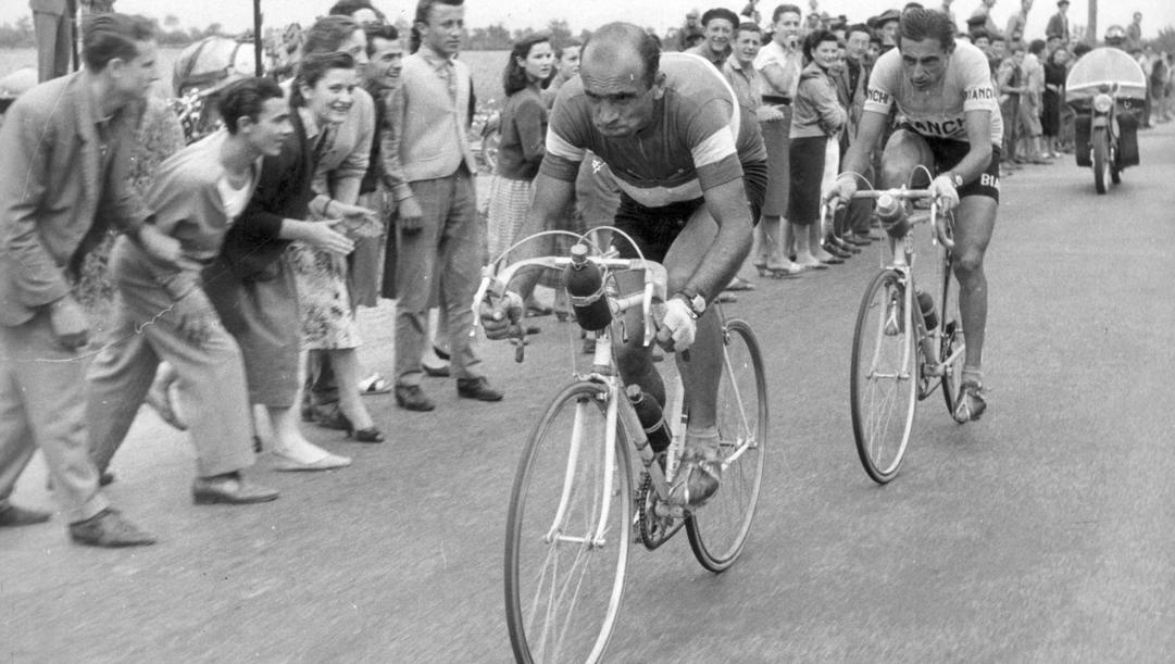 Magni e Coppi in azione al Giro