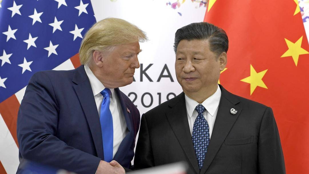 Trump e Xi Jinping, presidenti di Usa e Cina. Ap