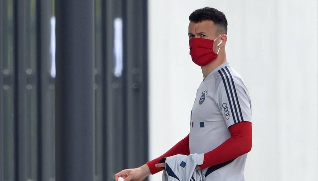 Ivan Perisic, 31 anni, al centro di allenamento del Bayern
