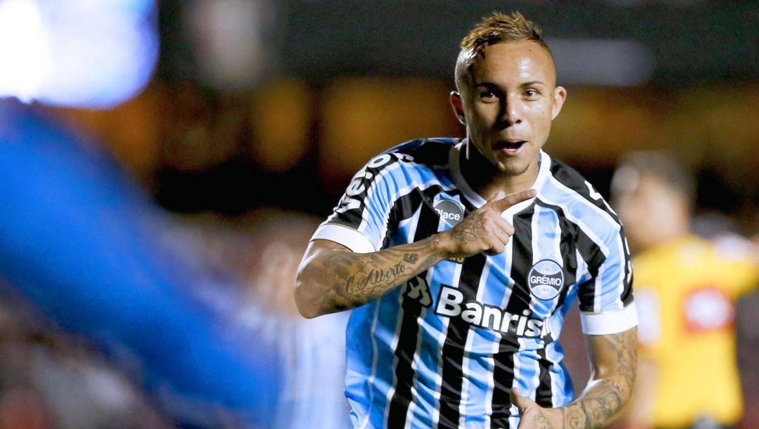 Everton Soares, mancino del Gremio e della Nazionale brasiliana. Italy Photo Press