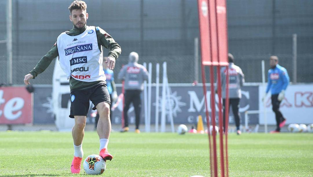 Dries Mertens in allenamento. (Getty Images)