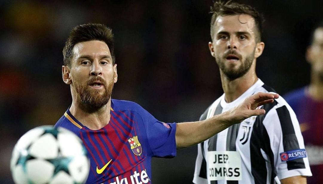 Leo Messi e Miralem Pjanic. Epa