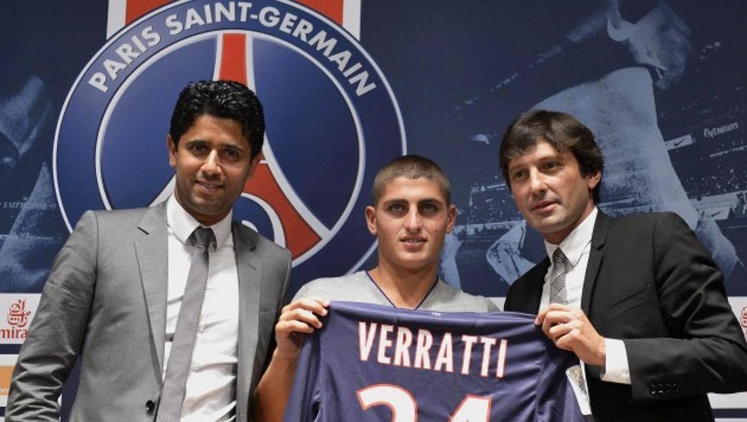 L'arrivo di Verratti a Parigi nel 2012