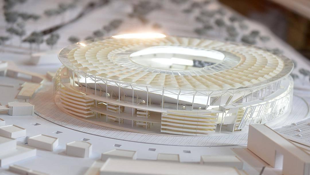 Il progetto del nuovo stadio. Imagoeconomica