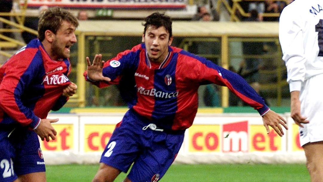 Cristian Zaccardo in maglia Bologna. Ansa