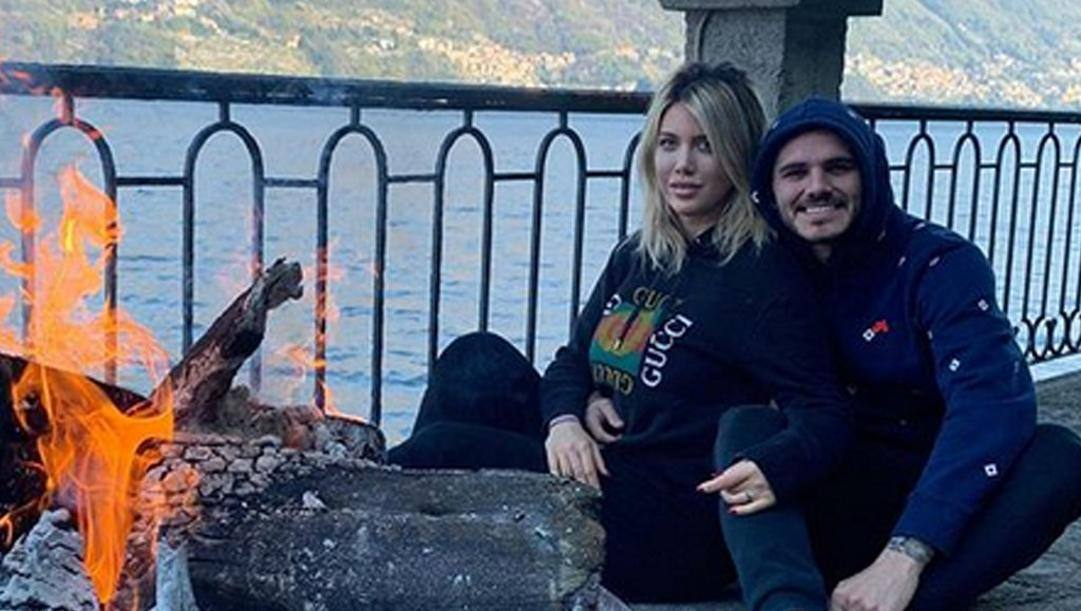 Mauro Icardi e Wanda sulle rive del Lago di Como