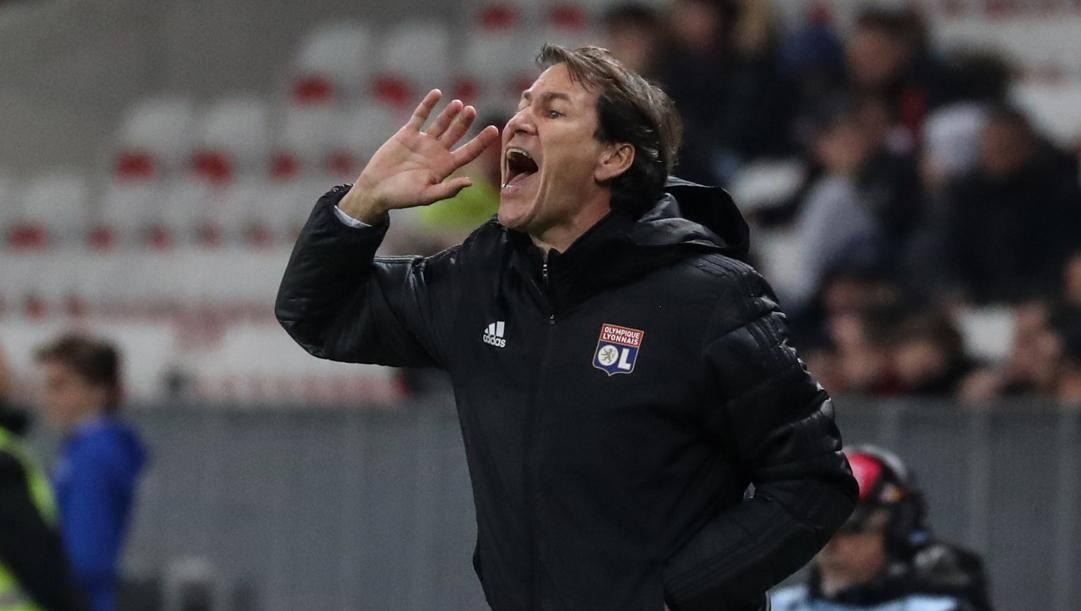 Rudi Garcia, tecnico del Lione. Afp