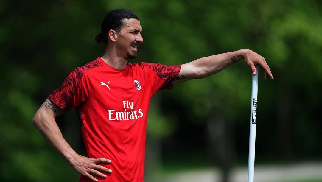Zlatan Ibrahimovic a Milanello. LaPresse