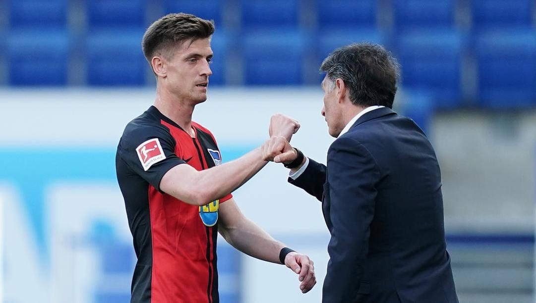 Krzysztof Piatek, 24 anni, sostituito dal tecnico dell'Hertha Berlino, Bruno Labbadia. Afp