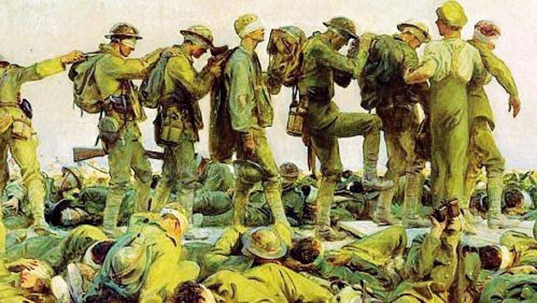 Un particolare del quadro di John Singer Sargent, esposto all'Imperial War Museum di Londra