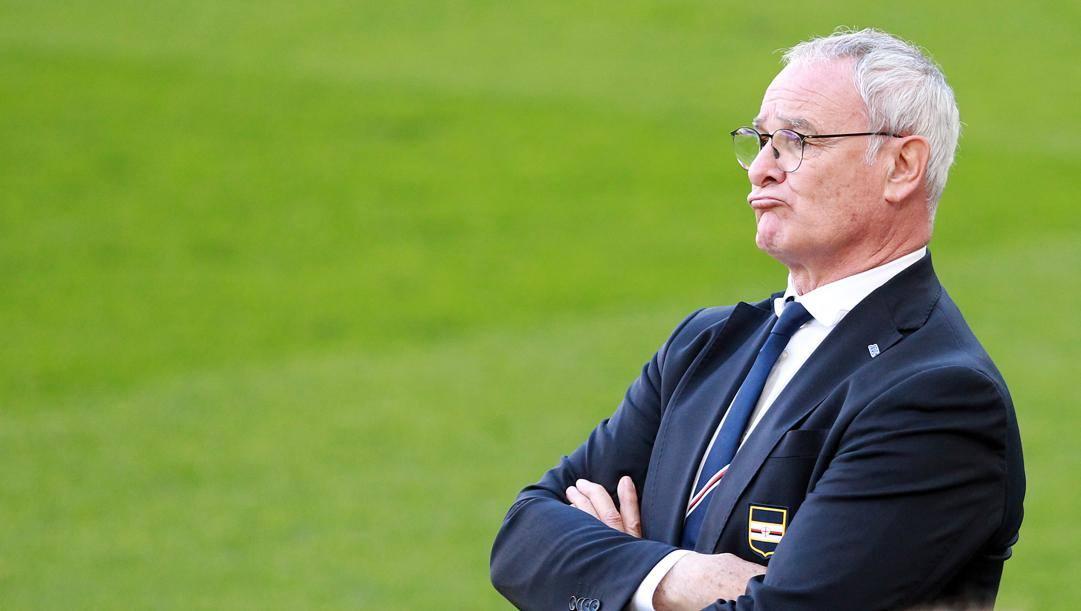 Claudio Ranieri guida la Sampdoria dall'ottobre scorso. Ha preso il posto di Eusebio Di Francesco LAPRESSE