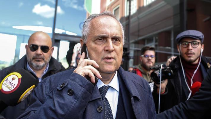 Claudio Lotito, presidente della Lazio. Ansa