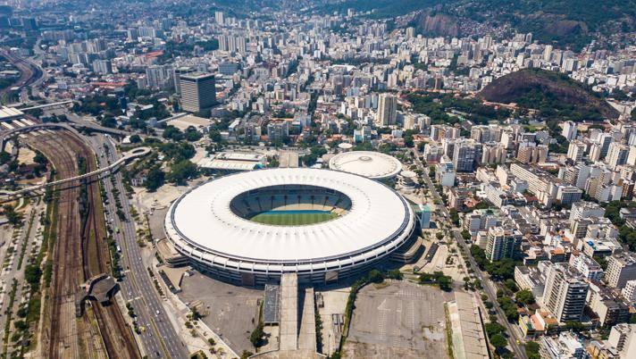 Lo stadio Maracanà utilizzato come ospedale. Getty Images