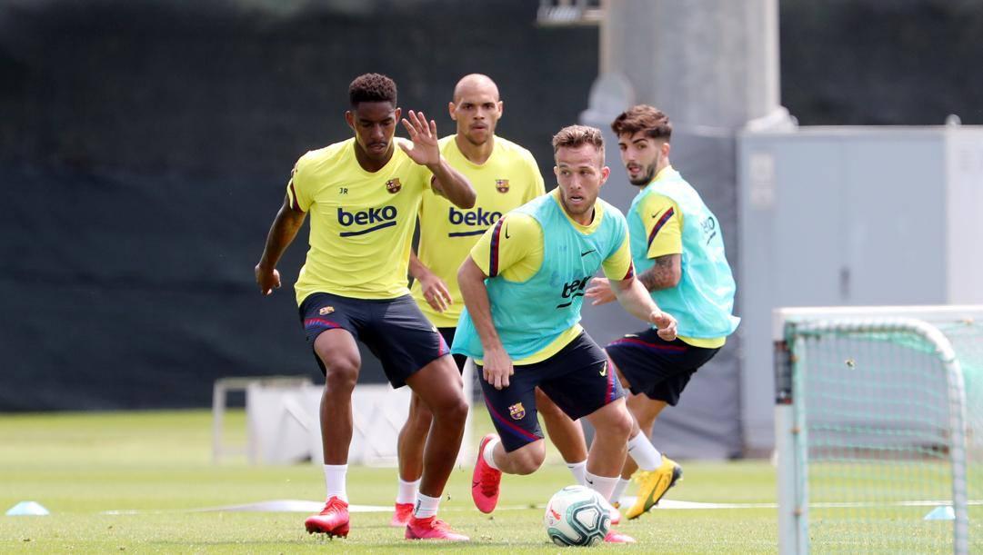 Arthur, 23 anni, in allenamento col Barcellona. Getty