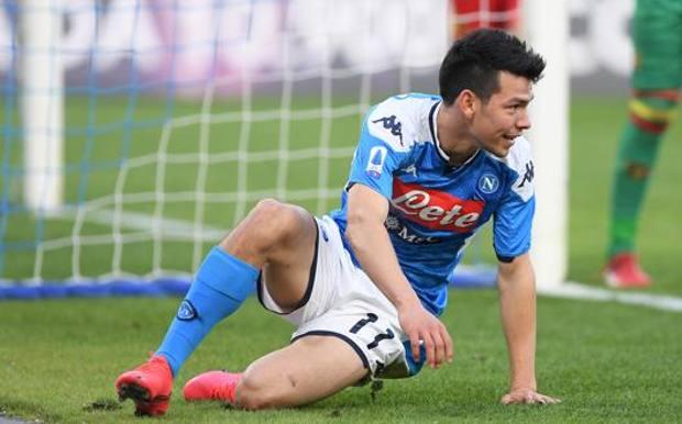 Hirving Lozano, 24 anni, prima stagione a Napoli. Getty