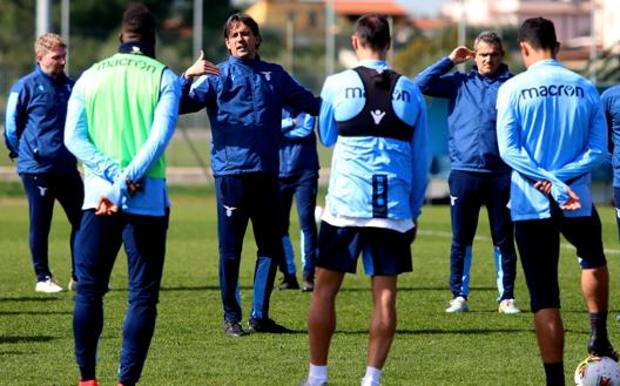 Simone Inzaghi al lavoro con la Lazio. Getty