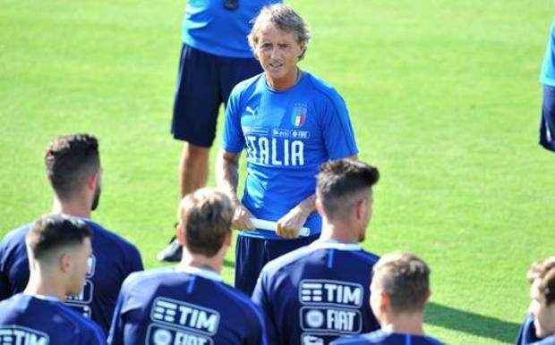 Roberto Mancini, 55 anni, al lavoro con la Nazionale a Coverciano
