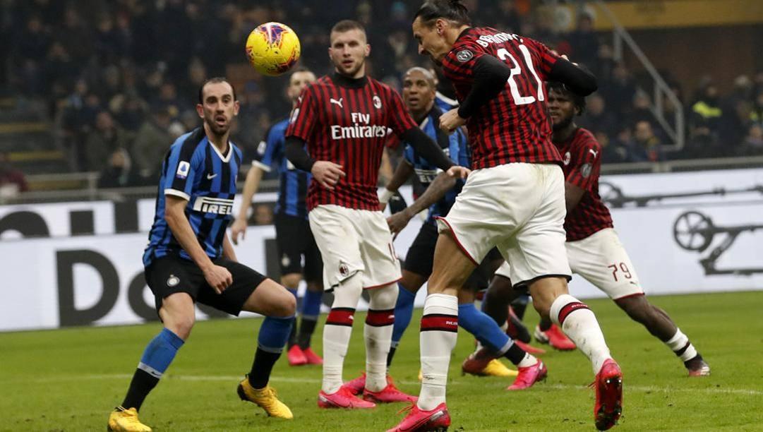 Il derby Inter-Milan dello scorso febbraio. Ap
