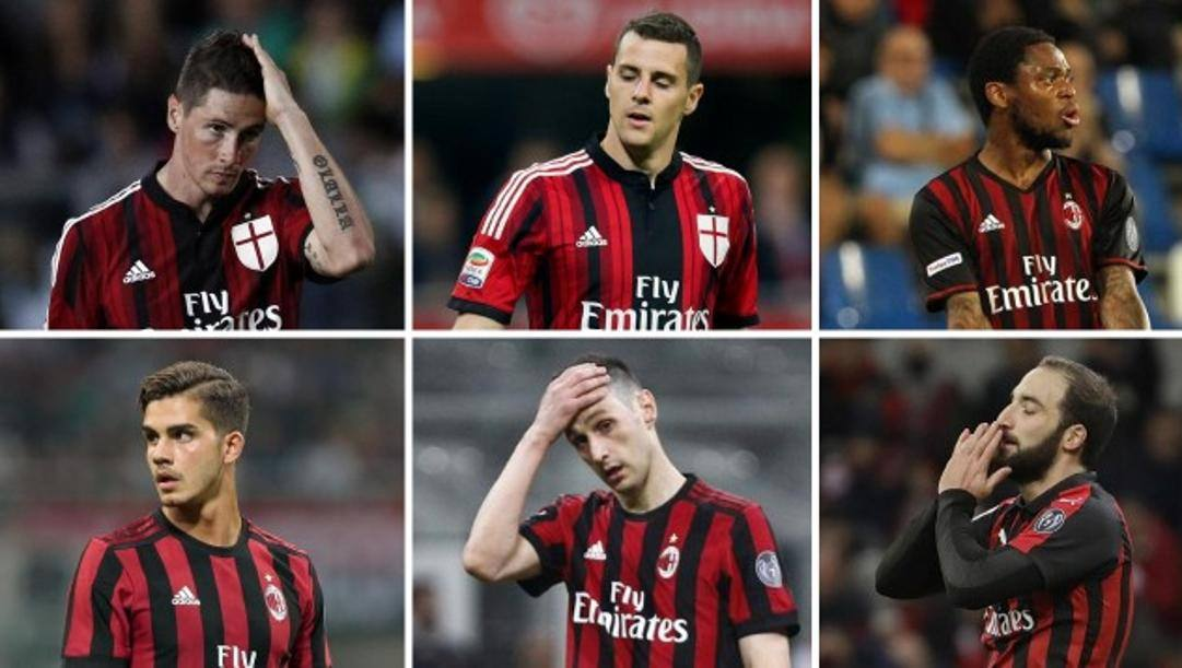 Torres, Destro, Luiz Adriano, Silva, Kalinic e Higuain