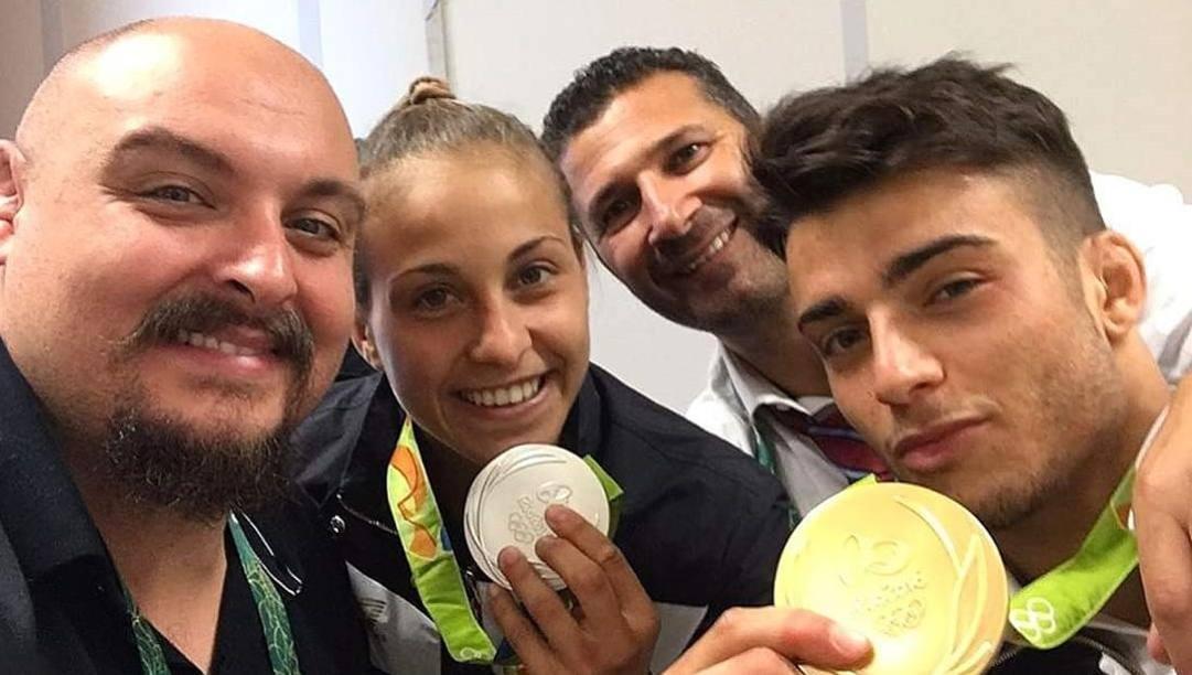 Paolo Bianchessi con Odette Giuffrida e Fabio Basile a Rio 2016