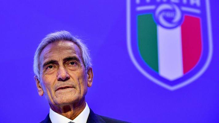 Il presidente della Figc Gabriele Gravina. Afp