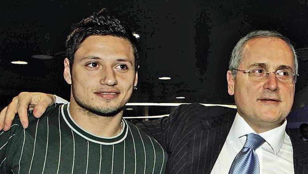 Mauro Zarate e Claudio Lotito