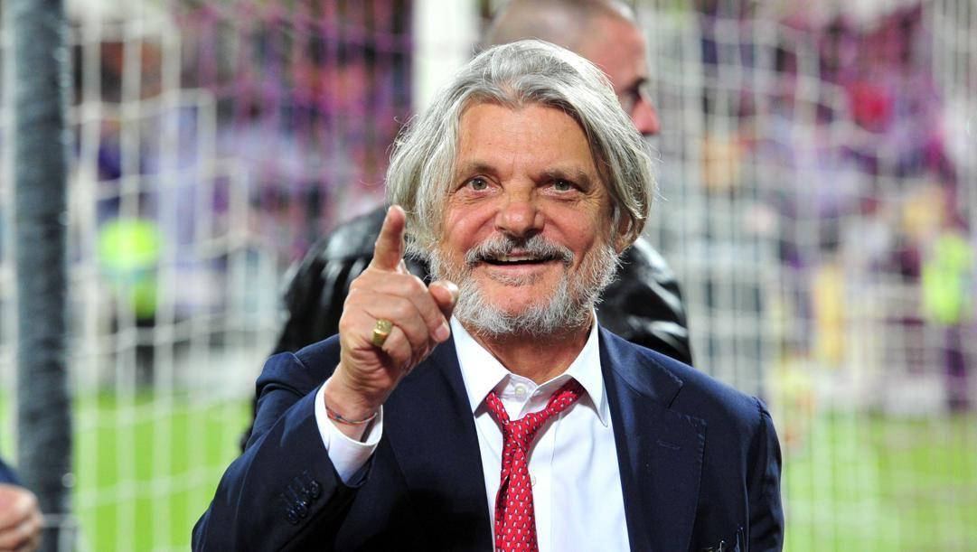 Massimo Ferrero, presidente della Sampdoria dall'estate 2014 LAPRESSE