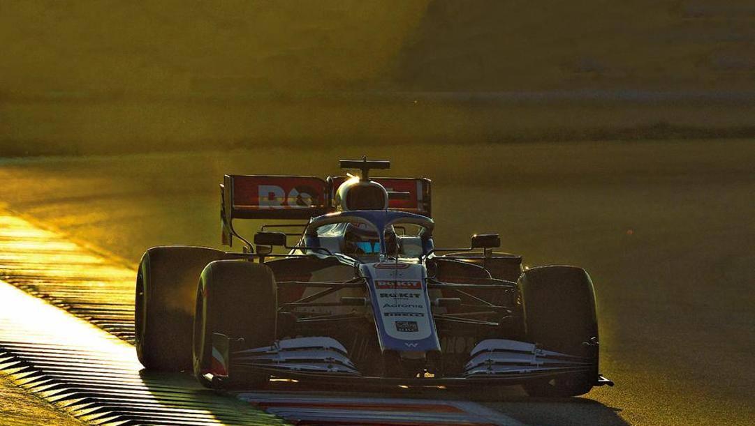 Il canadese Nicholas Latifi alla guida della Williams durante i test di Barcellona dello scorso febbraio. Getty