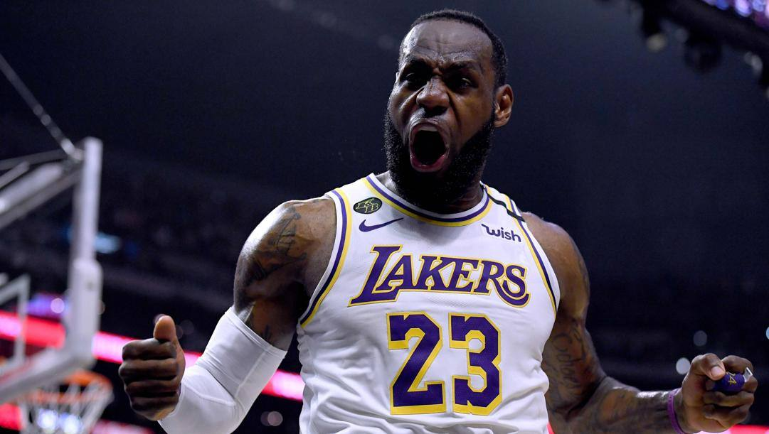 LeBron James, 35 anni, seconda stagione ai Lakers. Getty
