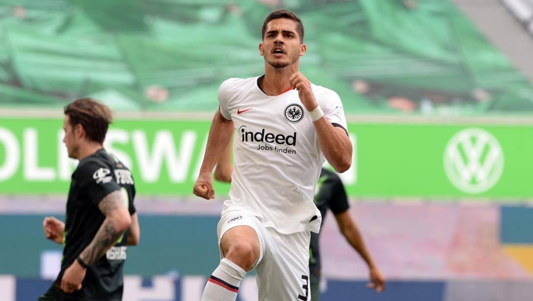 André Silva, 24 anni, attaccante portoghese in prestito all'Eintracht. Afp