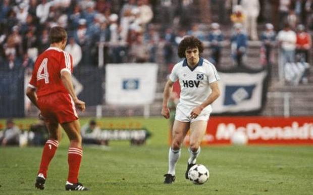 Kevin Keegan affronta John McGovern nella finale di Coppa dei Campioni 1980 tra Nottingham Forest e Amburgo GETTY IMAGES