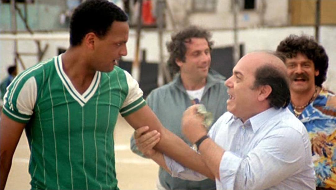 Urs Althaus, meglio noto come Aristoteles, con Lino Banfi nel film 'L'allenatore nel pallone'