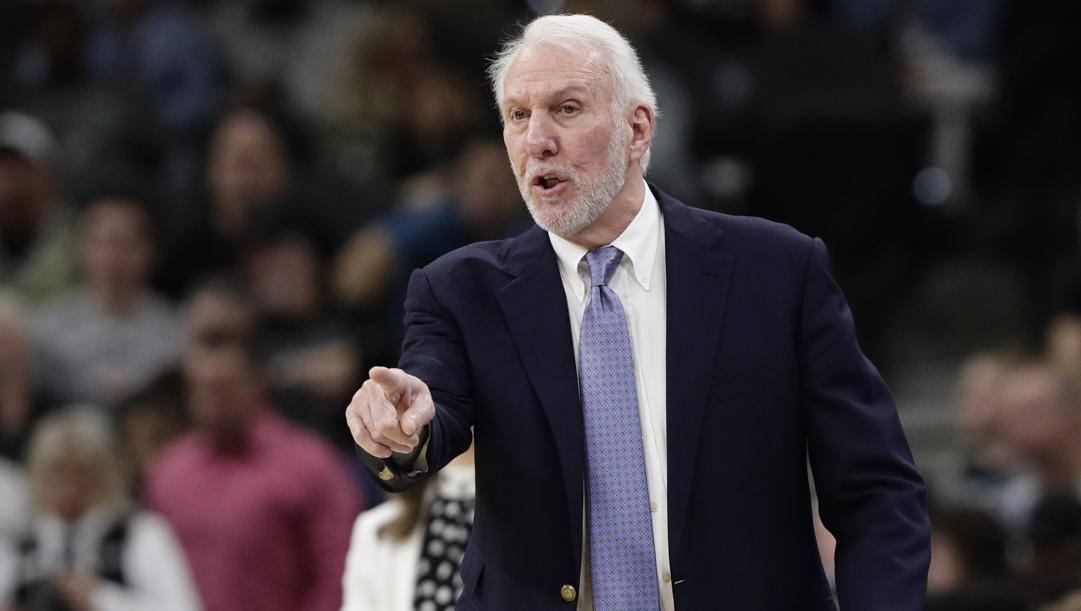Gregg Popovich, 71 anni, allena gli Spurs dal 1996. LaPresse