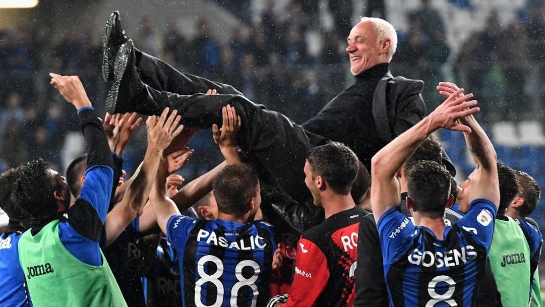 26 maggio 2019: l'Atalanta batte il Sassuolo 3-1 e si qualifica per la prima volta alla Champions League. Il presidente Percassi viene portato n trionfo dalla squadra.