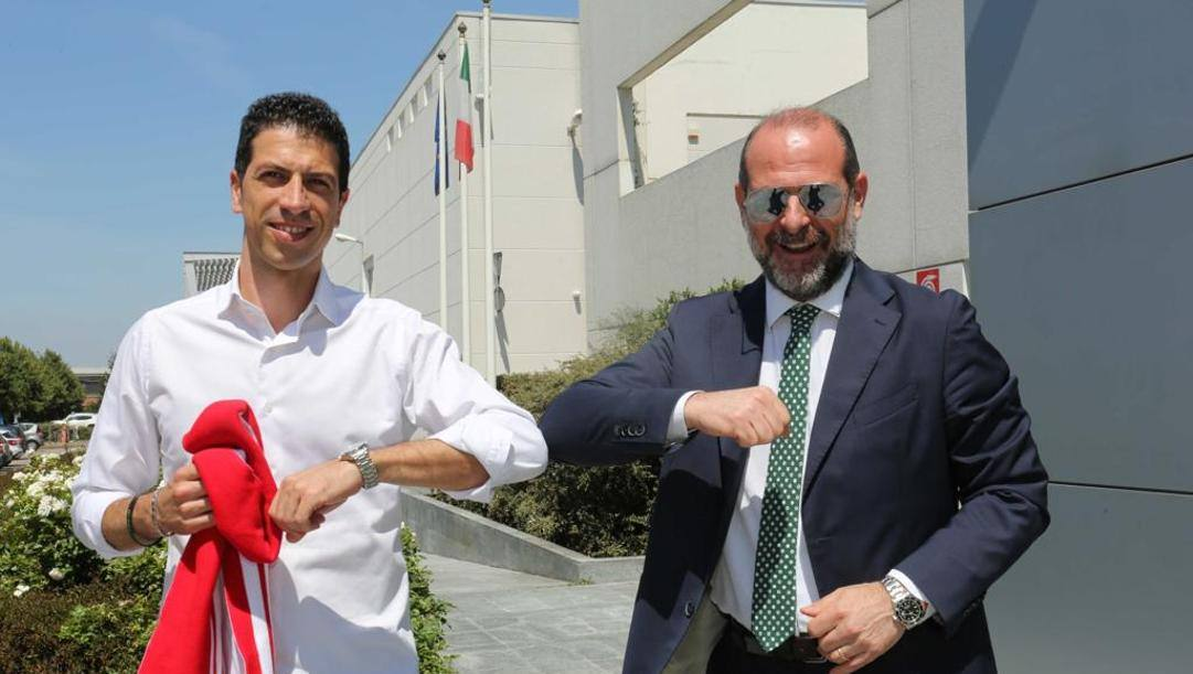 Antimo Martino e l'a.d. Alessandro Dalla Salda