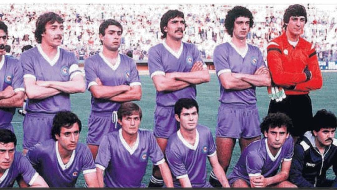 Il Castilla 1980: in piedi da sin., Juanito, Castaneda, Casimiro, Bernal, Herrero. In basso: Pineda, Alvarez, Cidon, Paco e Gallego Foto Emeroteca RMCF