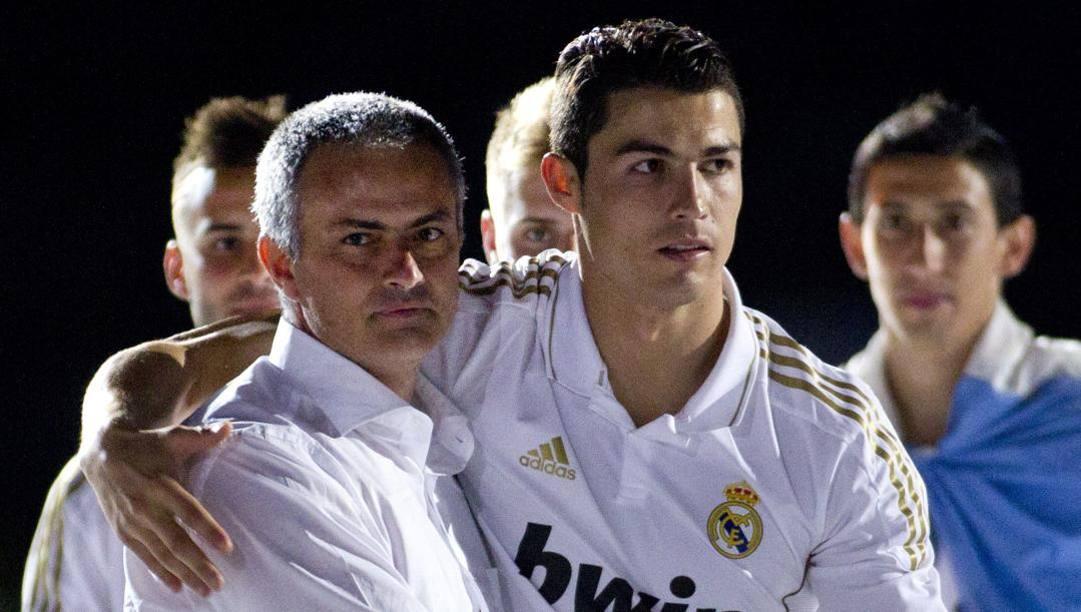 Mourinho e CR7. Afp