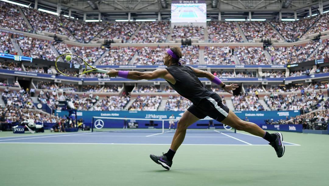 Rafa Nadal agli Us Open 2019. Ap